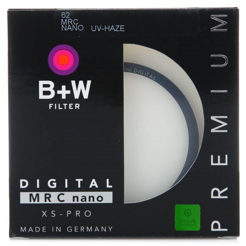 B + W 49mm 52mm 55mm 58mm 62mm 67mm 72mm 77mm 82 MM XS-PRO MRC Nano niebla UV Filtro protector Ultra-fino MC Filtro para lente de cámara