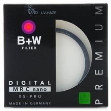 Filtro uv b + w 49mm 52mm 55mm 58mm 62mm 67mm 72mm 77 bw ultrafino protetor para lente da câmera, 82mm, XS PRO mrc nano UV HAZE