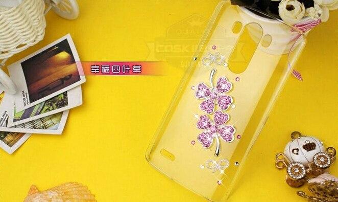 Flores de moda de lujo 3d bling del diamante cristalino del trébol accesorios ca
