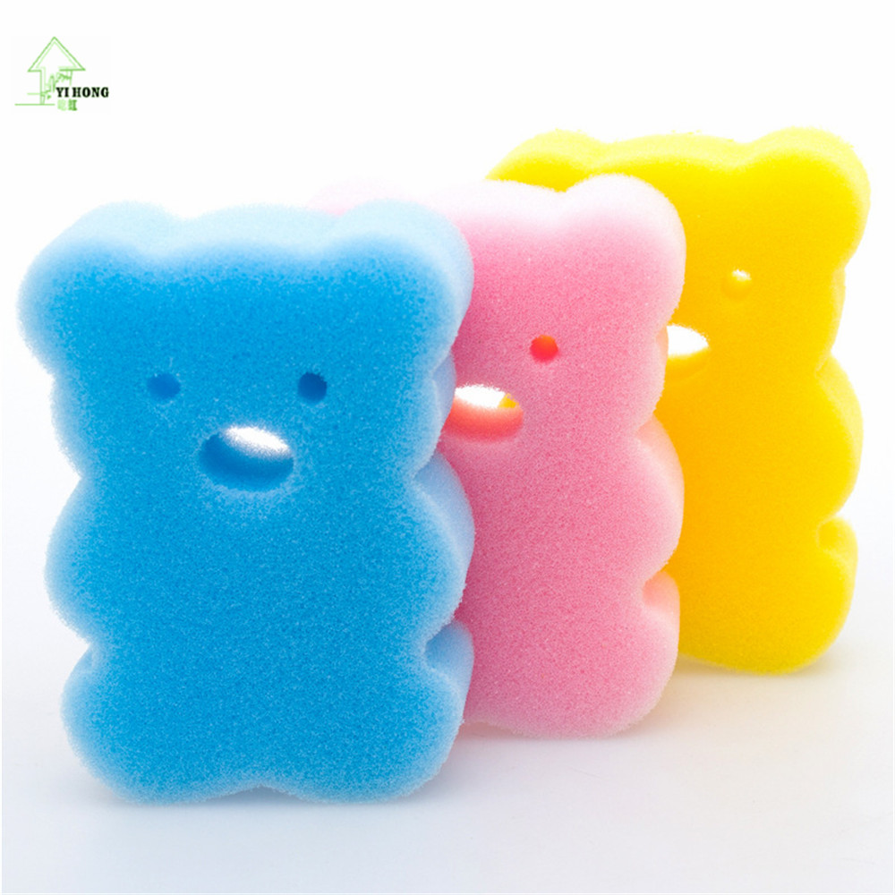 YI HONG Candy colored Cartoon Baby Children Bath Brushes Bath Sponge ...