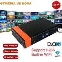 GTMedia V8 Nova DVB S2 Receptor Full HD 1080 H.265 HEVC Satellite Receiver 1 Year Europe Spain 7 line Clines CCCam Built in WiFi