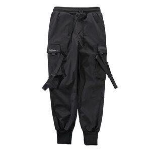 Image 5 - April MOMO 2020  Men Multi pocket Harem Hip Pop Pants Trousers Streetwear Sweatpants Hombre Male Casual Fashion Cargo Pants Men