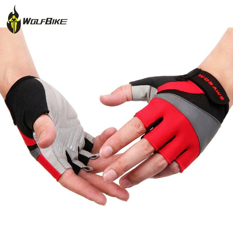 WOSAWE Unisex Atmungsaktive Mesh Half finger Radfahren Handschuhe Nicht-Slip GEL Pads Fäustlinge weiche durable motorrad reiten sportswear