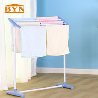 BYN Cloth Towel Rack Stand Free Floor Standing Clothes Rail Standing Towel Rack Dry Holder Household Cloth Hanging Rack DQ0074 P