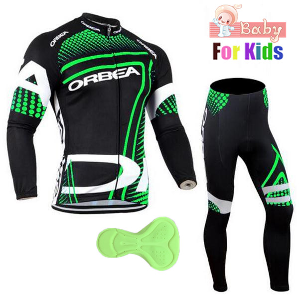 2018 Boys Orbea Team Long Sleeve Cycling Jersey Set Child MTB Bike Clothing Uniform Racing Bicycle Clothes Maillot Ropa Ciclismo otwzls cycling jersey 2018 set mountain bike clothing quick dry racing mtb bicycle clothes uniform cycling clothing bike kit