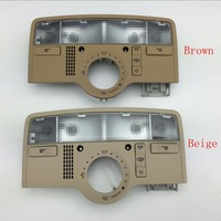 for VW Passat B5 Interior Beige Dome Light Brown Color Reading Lamp with SunRoof Skylight 3BD 947 105 A/3B7 947 106 B