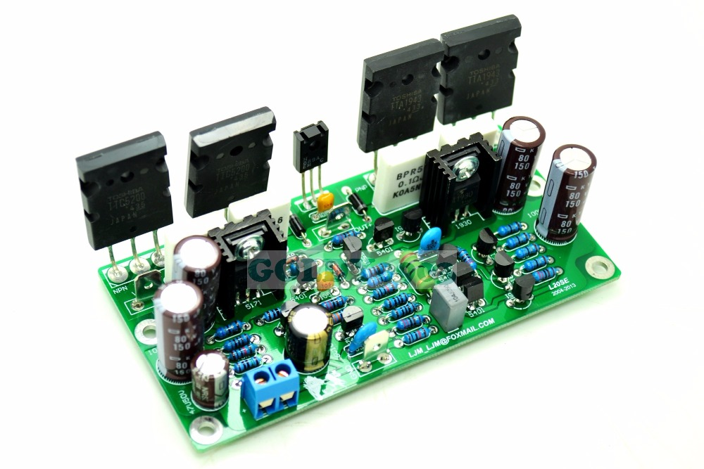 LJM-FINAL-L20SE 2SA1943 2SC5200 Amplifier Amp Board 350W 4ohm free shipping assembled 1943 5200 2 1 amplifier board 80w 80 w 100 w without six 10000uf capacitance