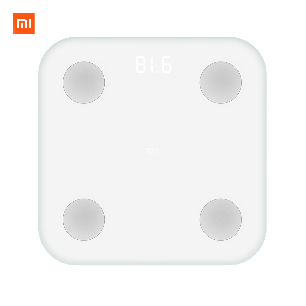 Xiaomi Mi Smart Scale 2 Weight Health Mifit APP Body Composition Monitor Hidden LED Display Body Fat BMR Test(RUSSIA WAREHOUSE)