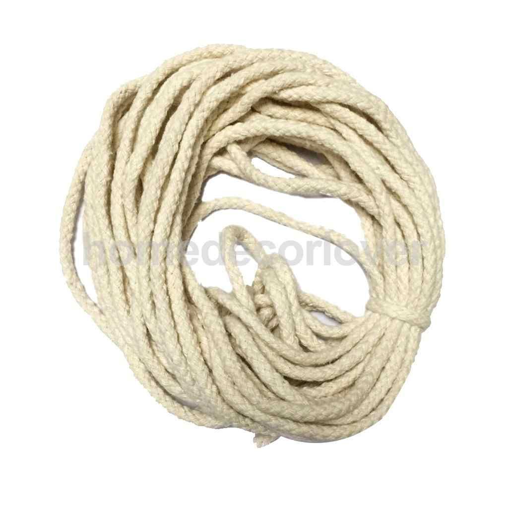 10 metri 100% Puro e Naturale Corda di Cotone Intrecciato Intrecciato Stringa del Cavo di Spago Sash 5 millimetri