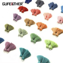 GUFEATHER L61 2cmTassel jewelry accessories accessories parts diy jewelry findings amp components jewelry findings embellishments cheap cotton tassel 0 5cm