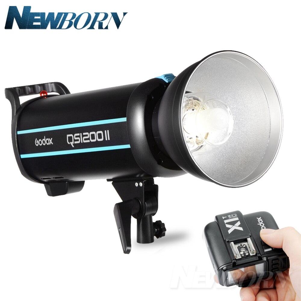 Godox QS1200II 1200Ws GN110 Studio stroboscope avec système intégré Godox 2.4G sans fil X pour Canon Nikon Sony Olympus Fujifilm