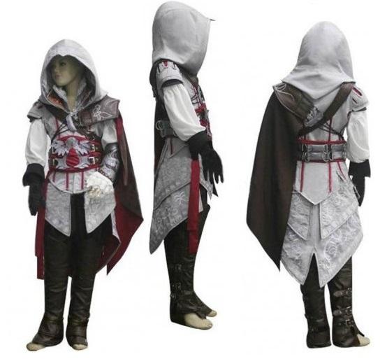 muchachos infantiles anime assassins creed ii ezio traje de cosplay para nios hombres disfraces de