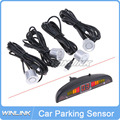 New Wireless 4 Sensors System 12V LED Display Distance Indicator Car Parking Sensor System Car Reverse Radar Kit Color Optional