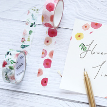 8 pcs Vintage flower washi tape set 15mm  Rose flower masking tape Sweet scrapbooking Diary album  decoration Stationery FJ016