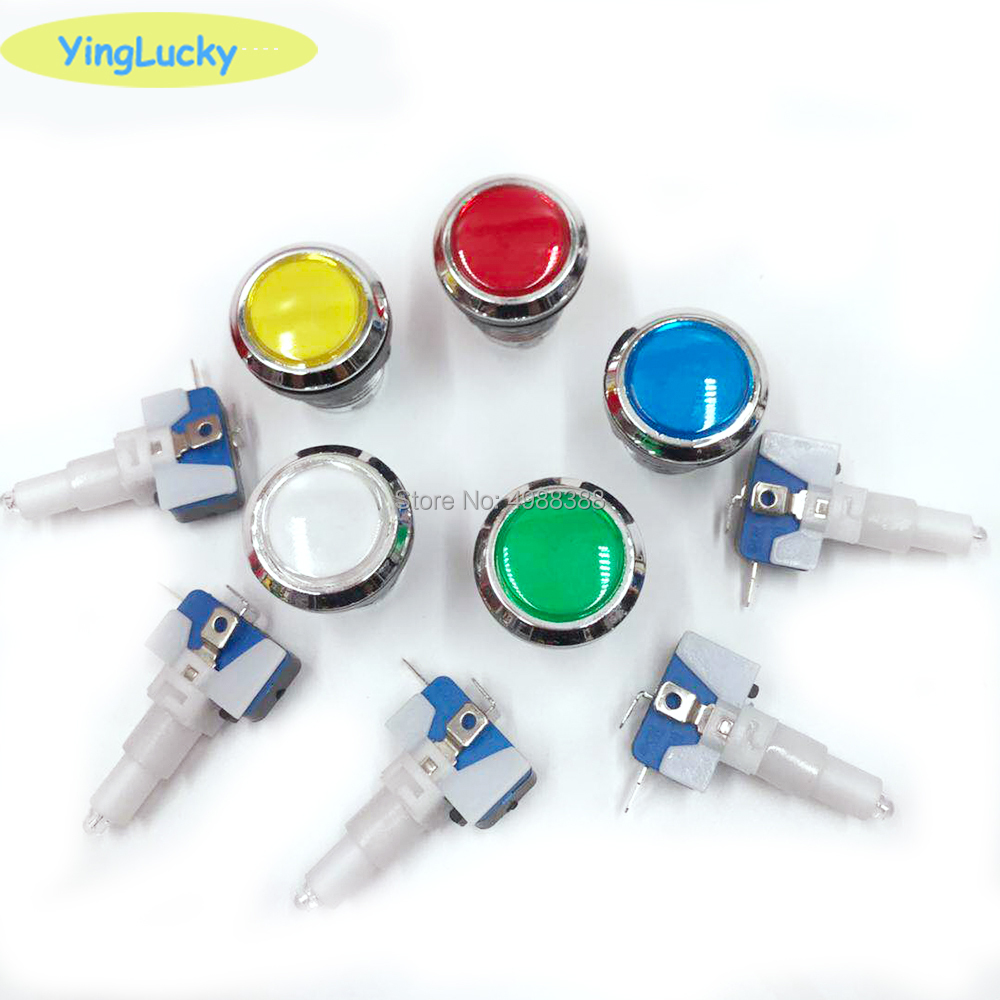 Arcade Button 33mm Push Button Led Micro Switch Momentary Illuminated 12v Power Button Switch Game Accessories image