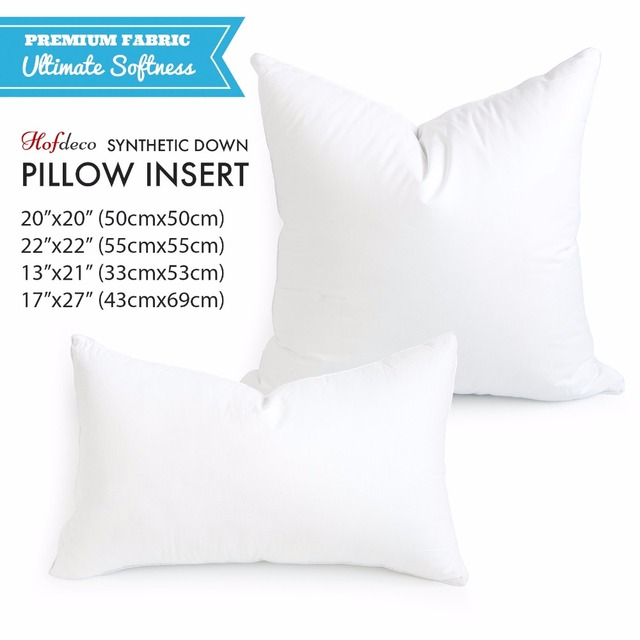 Hofdeco Synthetic Down Alternative HEAVY WEIGHT Decorative Pillow New Down Alternative Pillow Inserts