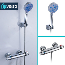 EVERSO 1 Set Thermostatic Mixer Shower Faucets Thermostatic Mixing Valve Bathroom Shower Set Thermostatic Shower Faucet цена и фото