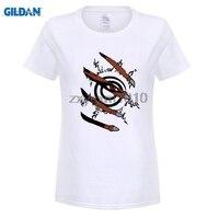 GILDAN Anime Naruto Uchiha Itachi Ekibi 7 T Gömlek kadınlar Dijital Baskı 100% 180 gsm Penye Pamuk Rahat T Gömlek