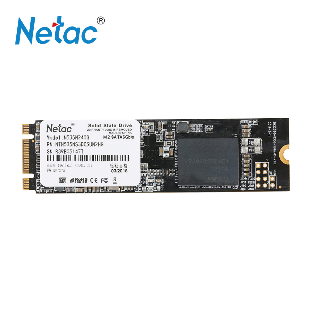 Netac N535N 240GB SSD NGFF(M.2) 2280 Internal Solid State Drive Hard Disk hd Digital Flash SATA6Gbp/s SSD for Laptop Desktop adata 3d nano ssd su800 128gb m 2 2280 ngff solid state drive solid hd hard drive disk m2 2280 hdd disk for laptop desktop