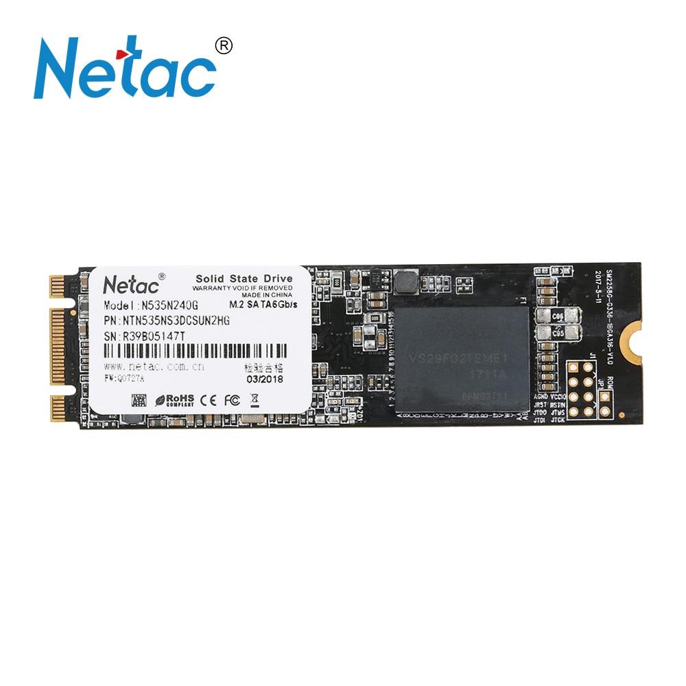 Netac N535N 240GB SSD NGFF(M.2) 2280 Internal Solid State Drive Hard Disk hd Digital Flash SATA6Gbp/s  SSD for Laptop Desktop kingston suv400s37 ssd 240gb internal solid state drive 2 5 inch sata iii hdd hard disk hd notebook pc