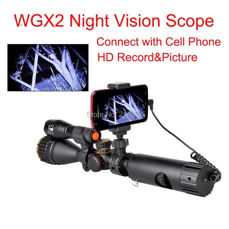 WGX2 HD Night Vision Rilfescope 1280x720 Display Night Vision Hunting Scope Digital IR Night Vision Scope Optical 200M Range original belarus yukon nvmt spartan 4x50 ir night vision monoular max 200m 24127