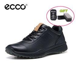 Genuíno Couro ECCO Homens Sapatos Casuais Marca De Luxo Outono Homens Lace-up de Inverno Calçados Zapatos Chaussures Respirável Nova Chegada