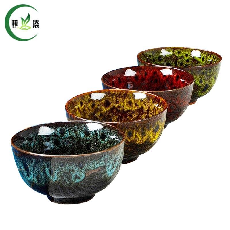 100ml 1pc High Quality Yao Bian Ceramic Big Tea Cups Porcelain Tea Set Teacups