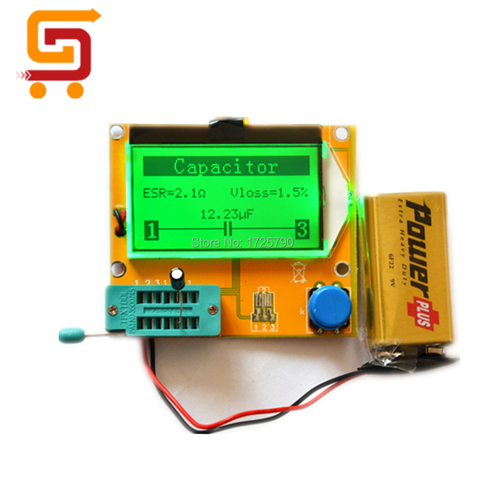 Esr Meter For Batteries : Lcd multimeter lcr t esr tester with battery