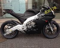Hot Sales,For Aprilia RS4 125 Parts 2012 2013 2014 2015 RS4 50 12 13 14 15 Matte Black Sportbike Fairing Kit (Injection molding)