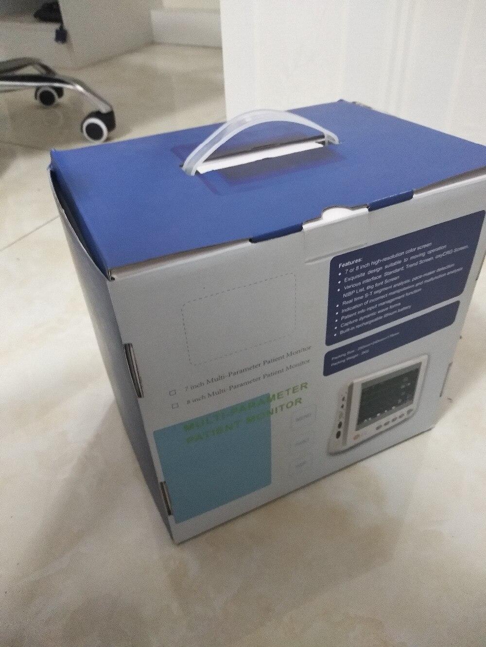 2018 Новый 8 дюймов монитор пациента в отделении интенсивной терапии ЭКГ крови Давление SPO2 Пульс Температура медицинские