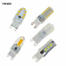 10 Pcs/lots LED COB Bulbs G9 Capsule 2W 3W 5W 6W 7W Corn Lamp Light 2835 SMD Replace Halogen Cold Warm White AC 110V 220V(China)