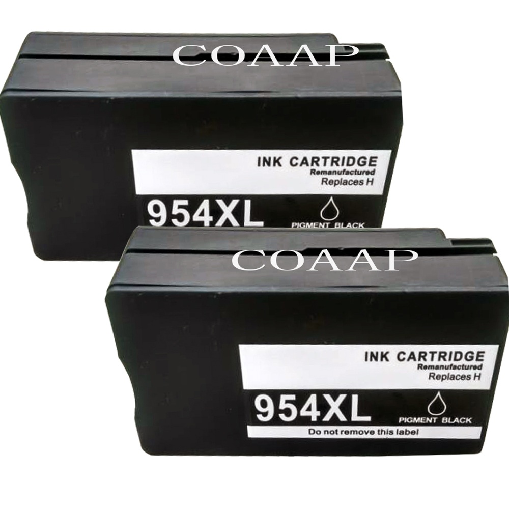 2 Compatible hp 954 Black ink cartridge for OfficeJet Pro 7740 8210 8710 8715 8716 8720