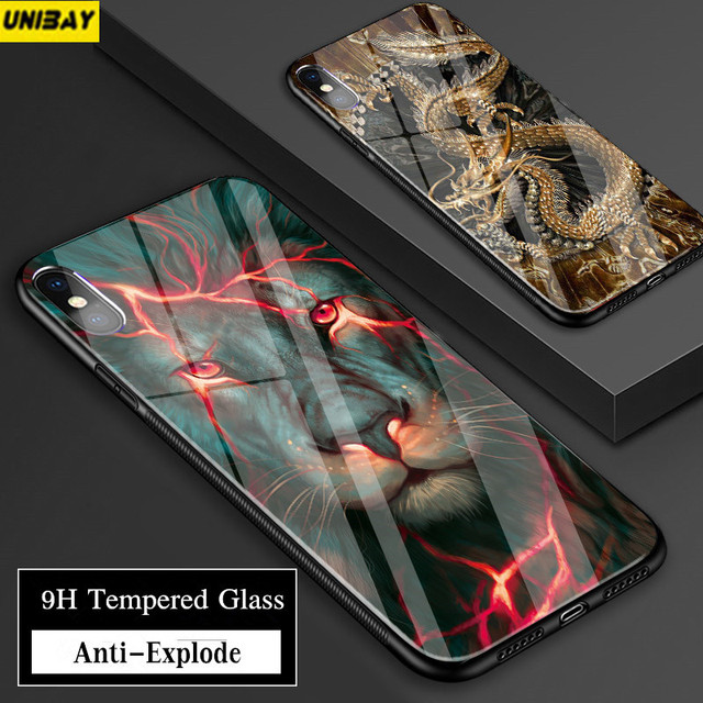 size 40 c3a85 7368a US $16.99 |Aliexpress.com : Buy Custom for iphone 7 case Tempered Glass  Case For iPhone X Hard Back Cover 9h Anti Explode For iPhone 7 6S 8 Plus 6  ...