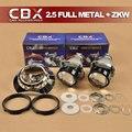 Full Metal 2.5 polegadas LÍDER Mini-h1 ESCONDEU Bi-xenon projetor LHD/RHD com ZKW Mortalha para H1 H4 H7 H11 9005 9006 Auto farol