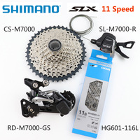SHIMANO SLX M7000 Upgrade Kit MTB Mountain Bike M7000 Groupset 11 Speed 42T 46T M7000 Rear Derailleur Shift Lever kmc chain