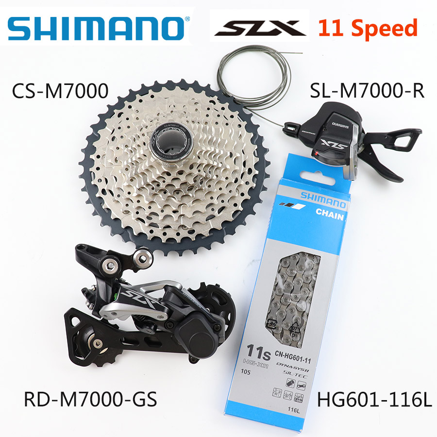 <font><b>SHIMANO</b></font> <font><b>SLX</b></font> <font><b>M7000</b></font> Upgrade-Kit MTB Mountain Bike <font><b>M7000</b></font> <font><b>Groupset</b></font> 11-Speed 42T 46T <font><b>M7000</b></font> Rear Derailleur Shift Lever kmc chain image