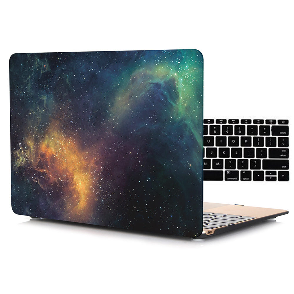 Galaxy Texture Matte Frosted Shell Case for Macbook Air Pro Retina 11 12 13 15 inch Laptop Bag Cases for Mac book Air 13 Case 2017 newest hot sleeve case bag for macbook laptop air 11 12 13 pro retina 13 3 protecter wholesales drop free shipping