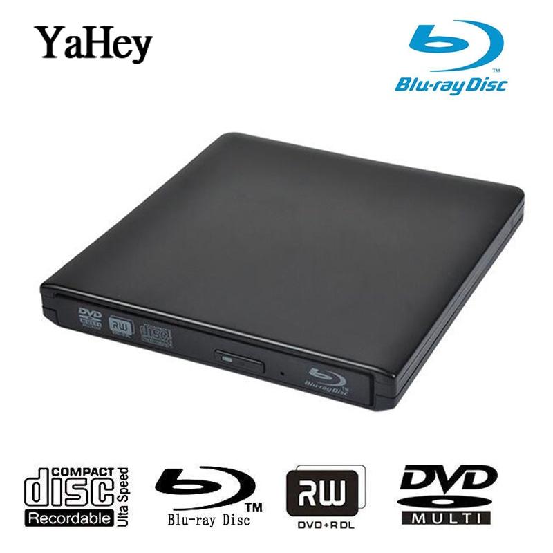 Bluray Burner Writer BD-RW USB 3.0 External DVD Drive Portatil Blu ray Player CD/DVD RW Optical Drive for hp Laptops