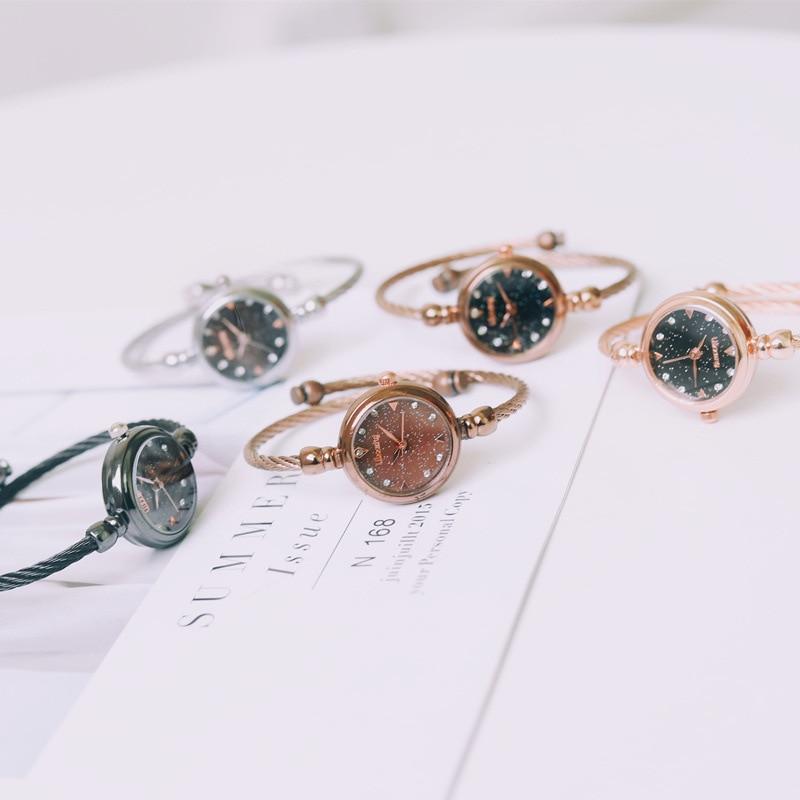 Cafe Gold Luxury Women Wristwatches Diamond Fashion Ulzzang Brand Ladies Dress Watches Small Female Bangle Stainless Watch