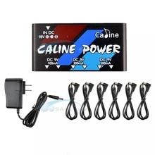 Caline CP 02 fuente de alimentación de múltiples salidas 18V, 1A, 18W, 6 canales de salida con adaptador y 6 uds. De Cable para Pedal de guitarra