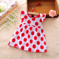 2016 Summer Baby Girl Dresses 0-2 Years Red Dort Infantil Cotton Regular Clothing Sleeveless Clothes Printed Kids Casual Dress