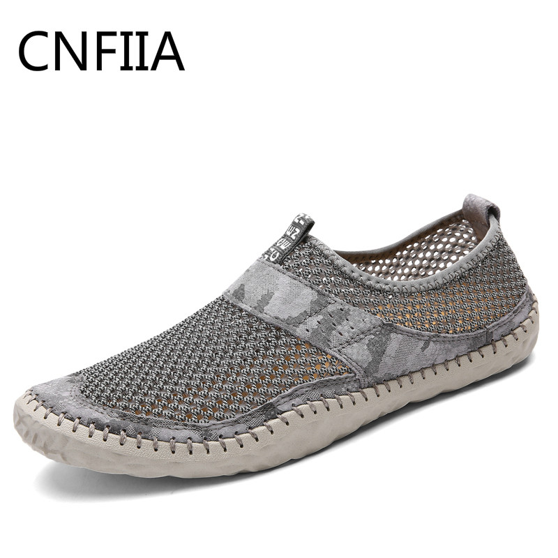 CNFIIA Men Shoes 2018 Summer Mesh Breathable Footwear Mens Shoes Casual Sneakers Male Sport Loafers Fashion Slip-On Shoes New mycolen 2018 new summer breathable men casual shoes slip on male fashion footwear height increasing sneakers sepatu casual pria