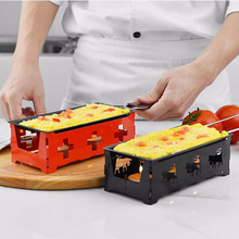 HADELI Swiss Cheese Roasters Practical Gadgets Wooden handle mini nonstick baking tray oven BBQ tools