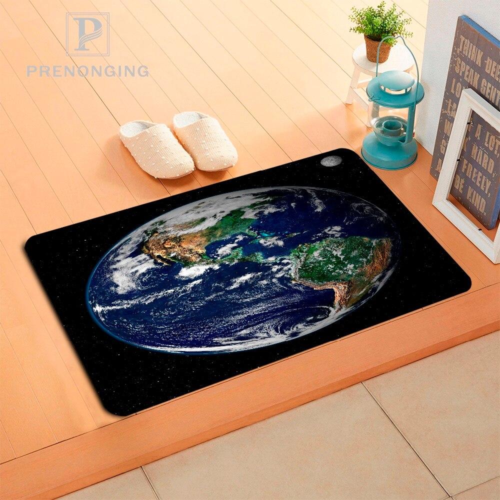 Custom Galaxy Earth Doormat Print slip-resistant Mats Floor Bedroom Living Room Rugs 40x60cm 50x80cm Free Shipping 171120-06