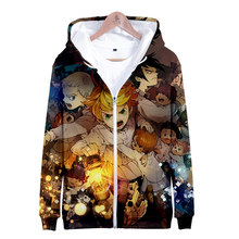 The Promised Neverland 3D Zipper Sweatshirt Highstreet Hoodies Casual Fashion  Clothes 2XS-4XL