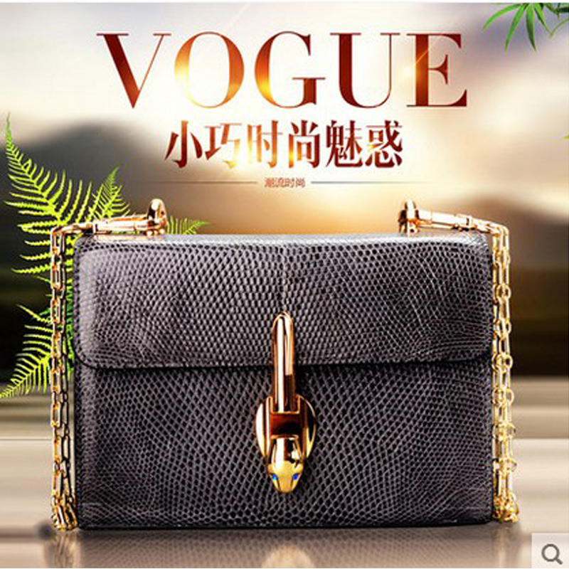 jialante Real lizard leather women bag leather mini slanting chain small women chain bag casual and single shoulder woman bag nematode parasite infesting lizard and their physiological effects
