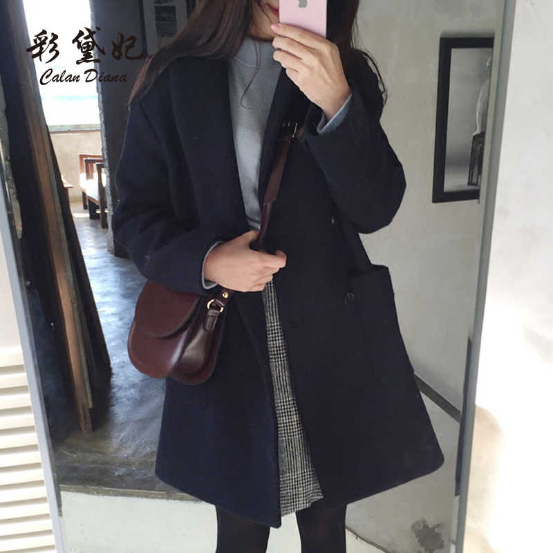 Cheap wholesale 2019 new Autumn Winter Hot selling women's fashion casual Overcoat XC107