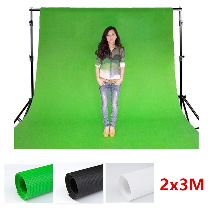Non-woven fabric Backdrops White Black Screen 2x3m Photo Background for Photo Studio 6.5x9.8FT Backdrop for Camera Fotografica