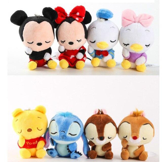 Mickey Minnie Mouse Brinquedos De Pelúcia Boneca Urso Winnie Chip Dale Esquilo Saco Ornamento Chaveiro Pingente Brinquedos presente para as crianças