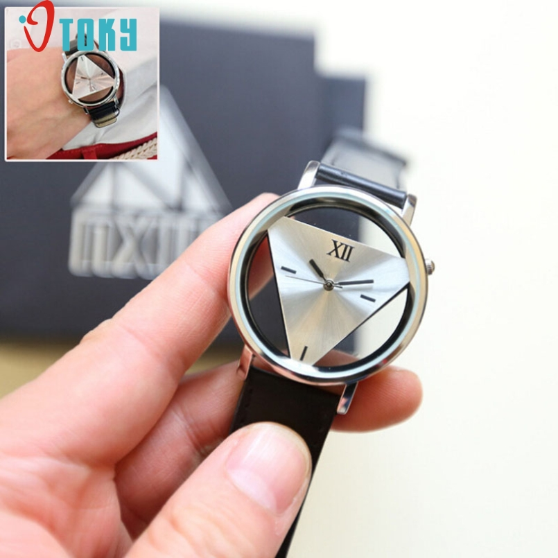 Excellent Quality OTOKY Women Dress Watches Hollowed-out Triangular Watch Unisex Casual Men Quartz Watch Relojes Mujer